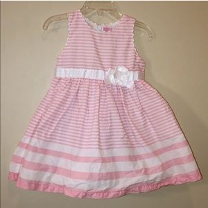 Children's Place 18-24 Month Pink Striped Dress